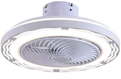 Lámpara de ventilador de 36 W, ahora regulable lámpara de ventilador de techo con iluminación LED de control remoto, utilizada para lámpara de ventilador invisible en estudio de dormitorio-Blanco-220v