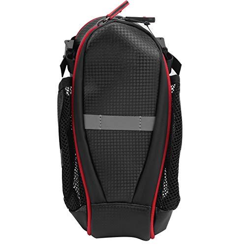 Tomanbery Bolsa de tija de sillín práctica para recorridos de Larga Distancia(Black Red)