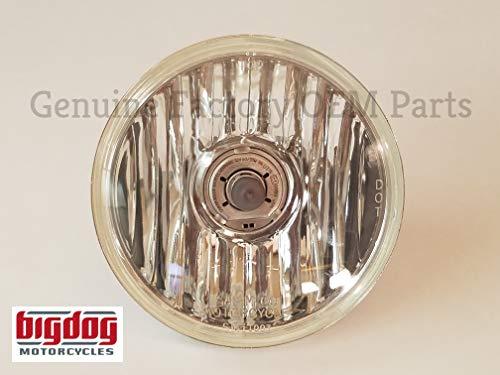 Big Dog OEM Headlight Glass & H4 Bulb - 5-3/4 (2000-11) K9, Mastiff, Ridgeback