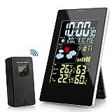 KKTICK Stazioni Meteorologica, Digitale Stazione Meteo Wireless LCD Display con Sensore Esterno per...