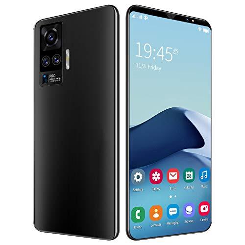 FJYDM Smartphone Desbloqueado, Teléfono con Pantalla De Ultra Alta Definición De 5 Pulgadas, Teléfono Móvil 6 + 128G Octa-Core, Teléfono Celular con Doble SIM Desbloqueado,Negro