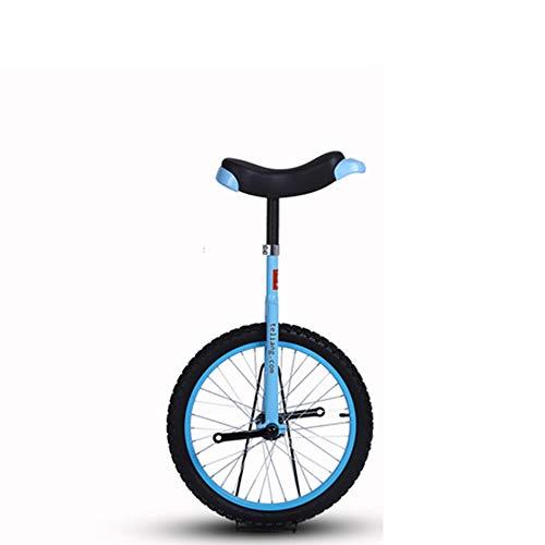 Bulawlly Monociclo de 24 Pulgadas, llanta de aleación Negra, neumático Negro con Asiento de sillín de liberación cómoda, Auto acrobático de una Sola Rueda,Azul