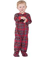 PajamaGram Unisex Baby Christmas Pajamas - Infant Christmas Pajamas, Red, 12M