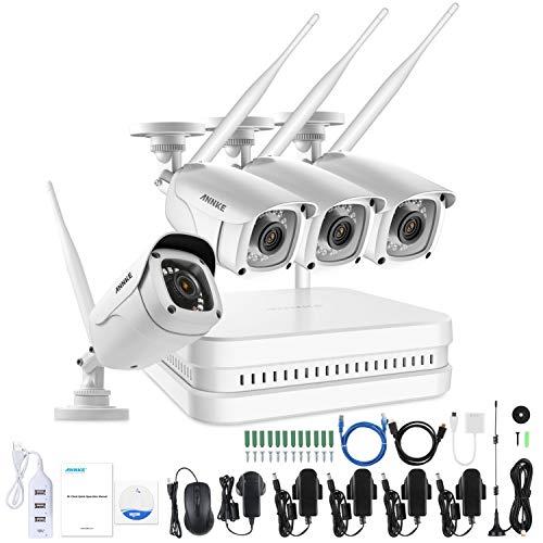 ANNKE 8CH 1080P HD Überwachungskamera CCTV System mit WiFi NVR/WLAN IP Kamera Überwachungskamera Set 4Pcs 1080P Überwachungskamera Aussen WLAN,30m IR Nachtsicht, Plug& Play,HDMI-Ausgang