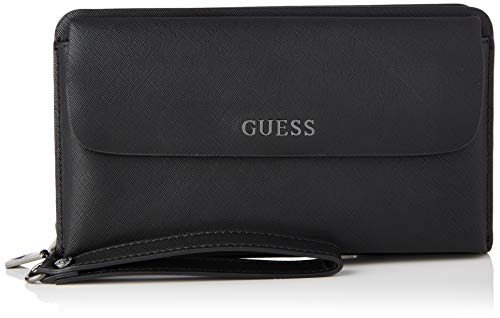 Guess King Clutch, Backpack Hombre, Negro, One Size