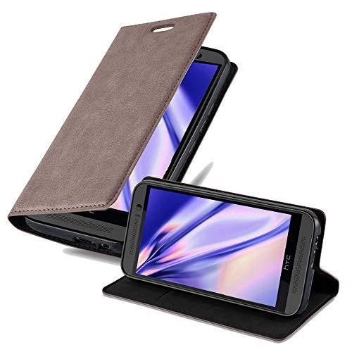 Cadorabo Hülle für HTC ONE M9 (3.Gen.) - Hülle in Kaffee BRAUN – Handyhülle mit Magnetverschluss, Standfunktion & Kartenfach - Hülle Cover Schutzhülle Etui Tasche Book Klapp Style