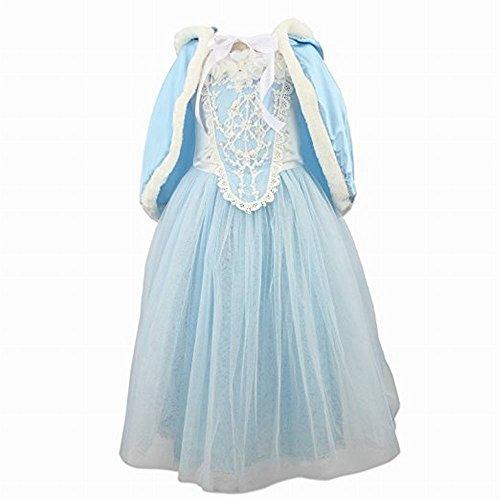 Filles Fleur Princesse Cosplay Costume Halloween Noël Cape Dress Party Déguisements