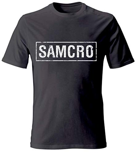 Sons of Anarchy Offiziell Samcro Schwarzes Distressed T-Shirt (XL)