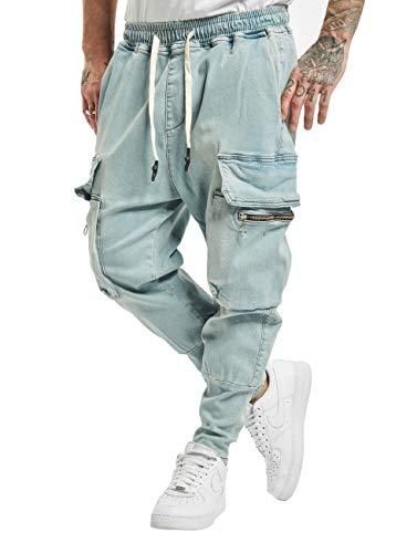 VSCT Clubwear Herren Cargohosen Logan Antifit blau M