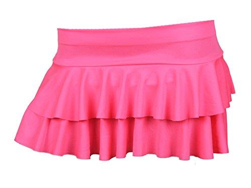 Neue Damen neon Animal Print Rara-Minirock Mini Kurzer Rock Dance Club Damen Größen S–L/XL Gr. S / M, - Neon pink