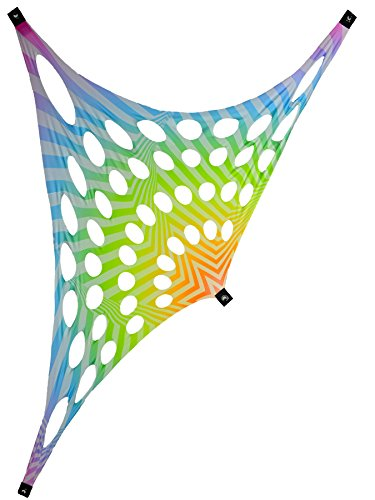 PSYWORK Schwarzlicht Segel Spandex Goa Rainbow Stripes, 1,2x2,5m