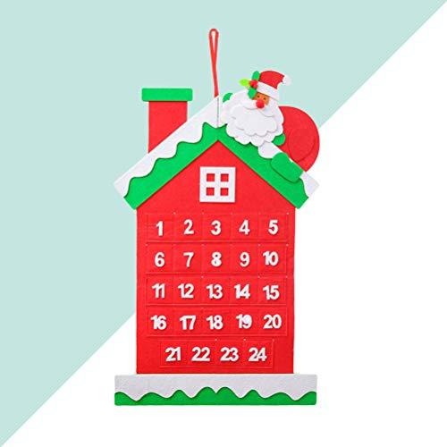 Amosfun 1pc Calendario Calendario de Navidad Calendario de Ideas Calendario Calendario de Navidad Calendario de decoración