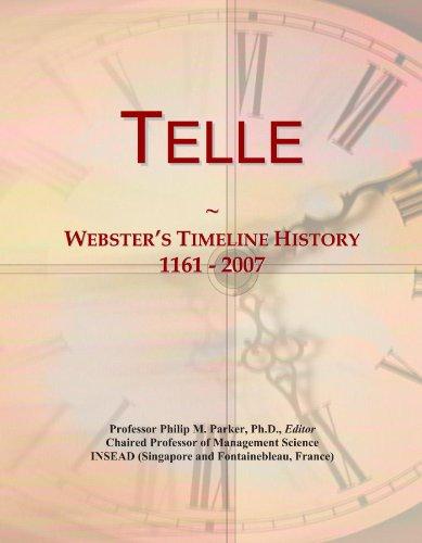 Telle: Webster's Timeline History, 1161 - 2007