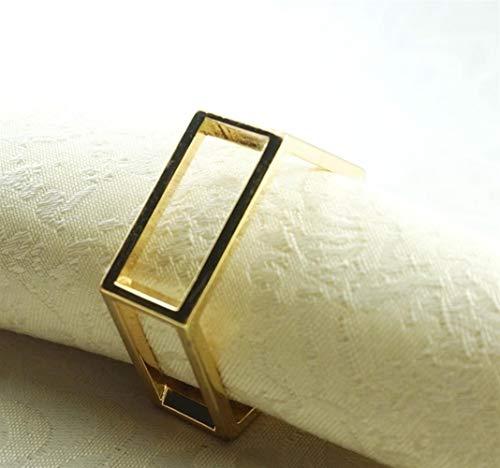 NOBRAND Servilletero de Metal de Oro, Titular de la servilleta for la Boda, 24 Piezas