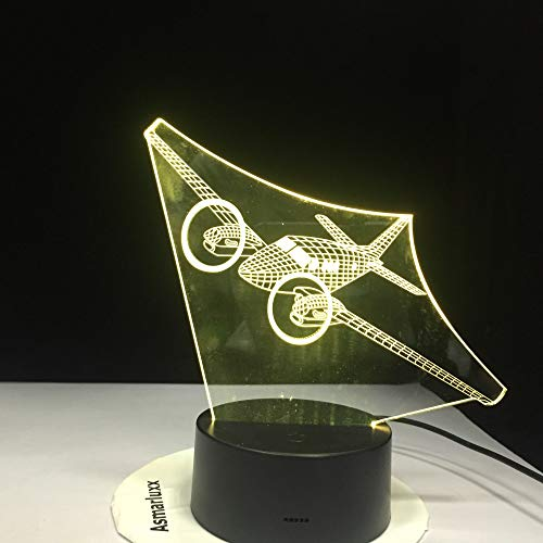 KangYD 3D Night Light Helicopter Plane Model, LED Optical Illusion Lamp, F - Bluetooth Audio Base(5 Color), Novelty Lamp, Lucky Gift, Bedroom Lamp, Party Gift, Room Decor, Room Lighting