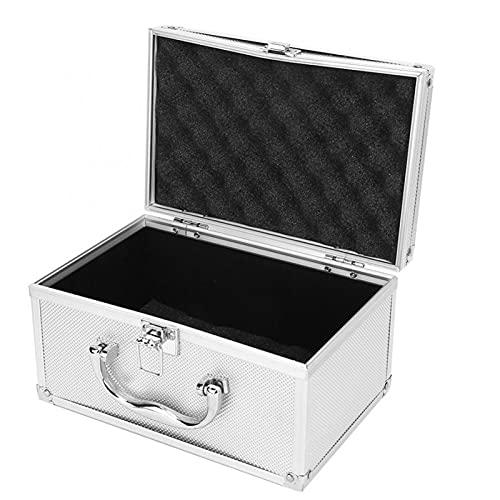 Wutingkong 230 * 150 * 125mm Aleación de aluminio Caja de herramientas de aleación de herramientas portátil Caja de herramientas de instrumento de caja de herramientas de joyería Maleta de caja con fo