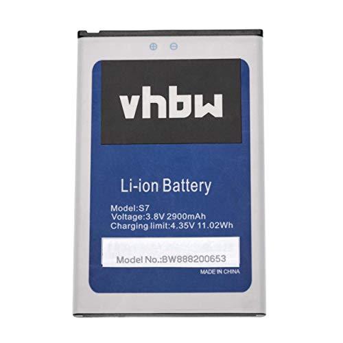 vhbw batteria compatibile con HomTom S7 smartphone cellulare telefono cellulari (2900mAh, 3.8V, Li-Ion)