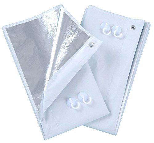 ■正規品■『遮光率約99.9%簡単取り付けで省エネ対策! 』アルミ断熱・遮光カーテン◆2枚組◆