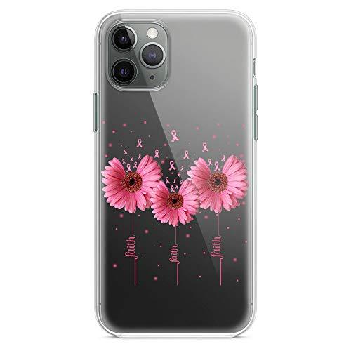 Women Pink Daisy Flower Breast Cancer Survivor Anti-Shock Case for iPhone 7 Plus/8 Plus