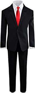 Boys' Formal Black Suit with Shirt and Vest