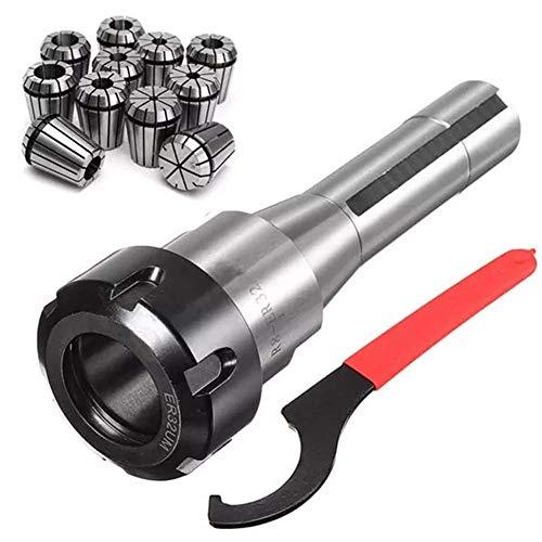DSENIW QIDOFAN - Juego de 11 pinzas de resorte ER32 con soporte de abrazadera R8-ER32 para fresado CNC, herramienta de rodamientos de rodillos
