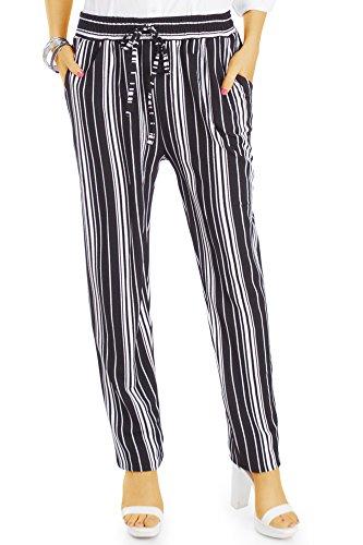 bestyledberlin Damenhosen, Pluderhose sommerlich mit weitem Schnitt j46l L-XL Muster 1