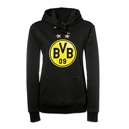 Borussia Dortmund, Felpa con cappuccio e logo, nero-giallo, M