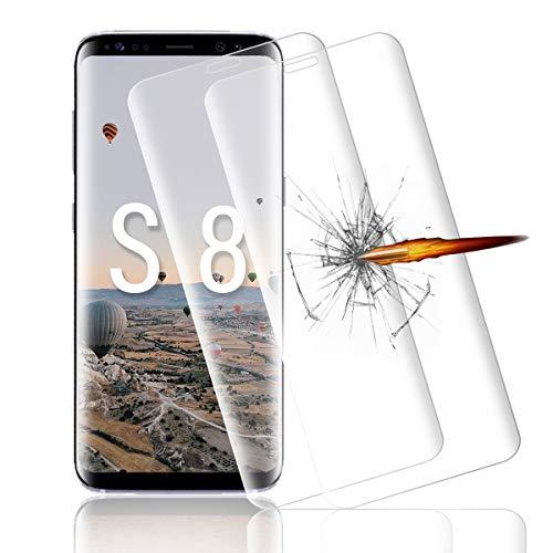 Schutzfolie für Samsung Galaxy S8 [2 Stück],HD transparent/Anti-Bläschen Panzerglasfolie, 9h Härte Glasfolie, Anti-Kratzer Displayschutzfolie für Samsung Galaxy S8 panzerglas folie