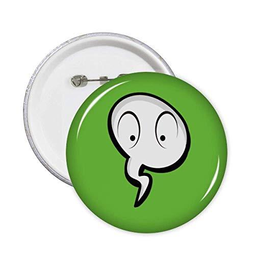 Linguagem diária chat emoção surpresa broche broche botão emblema acessório decoração 5 peças