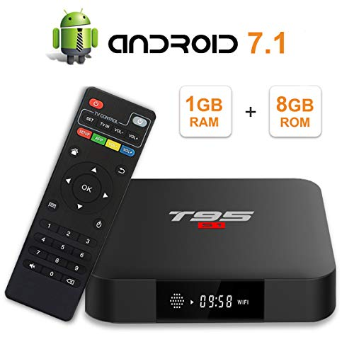 T95 S1 Android 7.1 tv Box with 1GB RAM/8GB ROM Amlogic S905W Quad-core Digital Display HDMI HD Support 2.4G WiFi 3D 4K