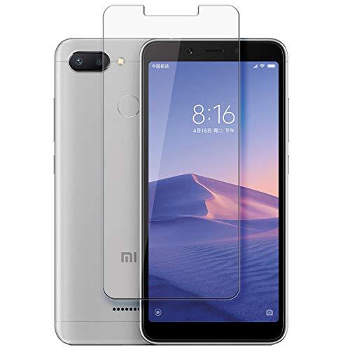 disGuard Protecteur d'écran [Crystal-Clear] Compatible avec Xiaomi Redmi 6 [2 Pièces] Limpide, Transparent, Invisible, Extrêmement résistant, Anti-Empreinte Digitale - Film Protecteur
