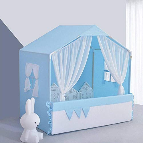 xmwm Four Seasons General Pet Tent Nest Washable Kennel Small Dog Teddy Pet Cat Spring And Summer Princess Bed Tent,Blue,L (50 × 45 × 60cm)