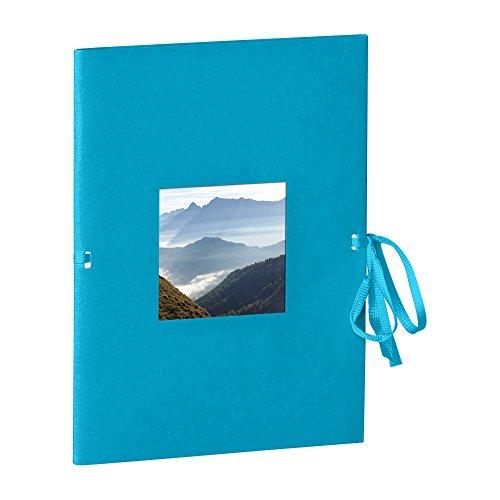 Semikolon (351537) Fotoheft Photo Booklet Portrait turquoise (türkis) -Fotoalbum mit 20 cremefarbenem Seiten - Mini Foto-Buch im Format: 14 x 19 cm