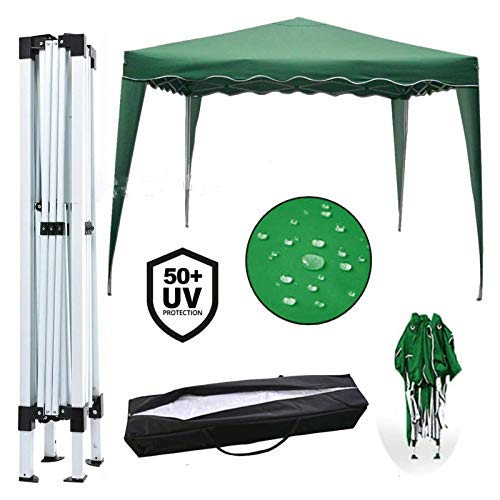 Plztou Pop Up Gazebo 3x3m Heavy Duty Gazebo Canopy Marquee Party Tent Outdoor Wedding Shelter, Powder Coated Steel Frame, Easy to Use, Green