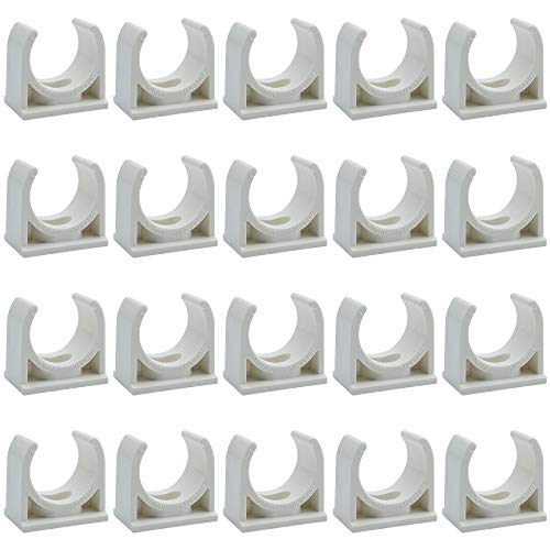 DXLing 20 Piezas de Colliers de Tuyau Conduit de PVC abrazad