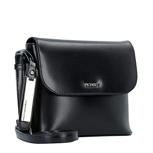 Picard Berlin Handtasche aus Rindsleder - Innenmaterial: Baumwolle, Schnappverschluss, verstellbarer Schultergurt, Reissverschlussfach 16 x 18 x 7 cm (H/B/T) Damen (4628)