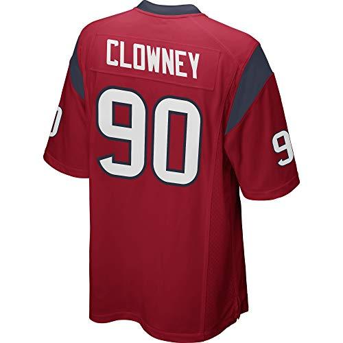 JEMWY Heren/Vrouwen/Jeugd_Jadeveon_Clowney_#90_Red_Alternate_Game_Sportswears_Training_Competition_Jersey