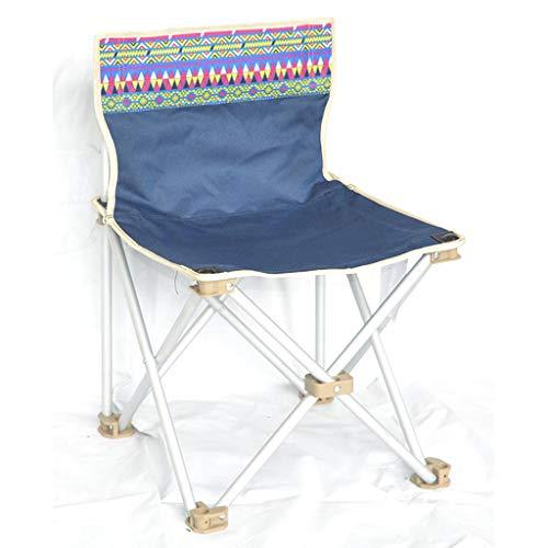 KAI LE Silla de Camping Banco de Pesca Banco de Acero pequeño Huevo Lounge Chair (Color : Royal Blu