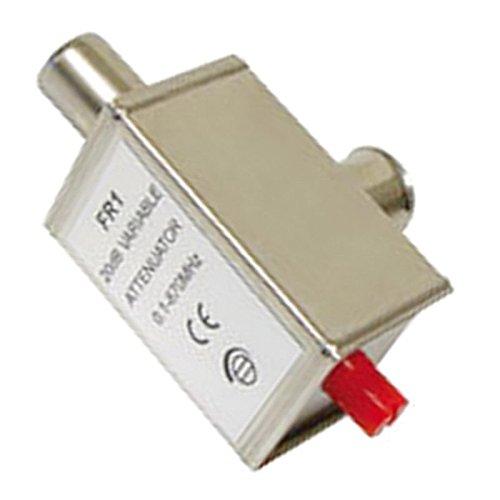 erenLine Kabel TV - Dämpfungsregler; regelbar: 0-20 dB; Pegelsteller; Problemlöser !