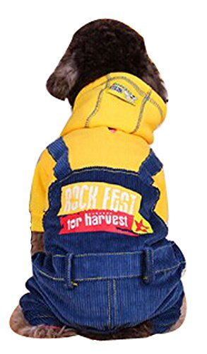 Blancho confortable d'hiver pour chien pour animal domestique Vêtements (Jaune, taille : XS)