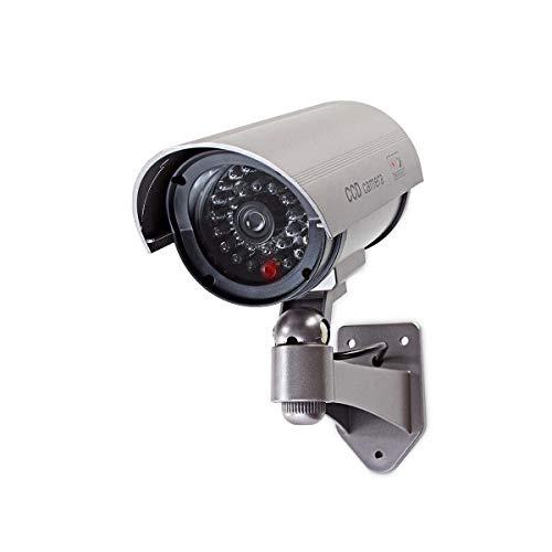 TronicXL Profi Kamera Dummy Attrappe mit Blinkender LED Überwachungskamera Aussenbereich Kameraatrappe Innen Außen