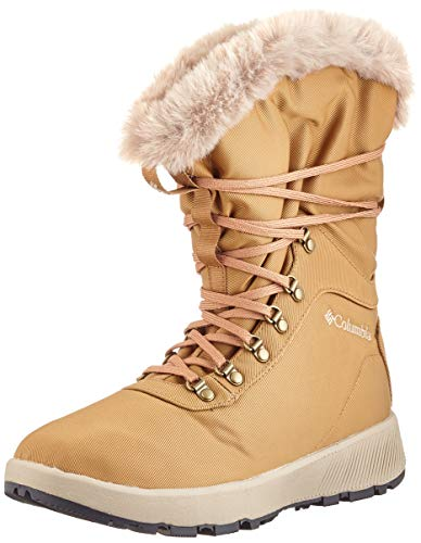 Columbia Damen Slopeside Village Omni-Heat Hi Hohe Winterstiefel, Braun, Orange (Elk, Autumn Orange), 41 EU