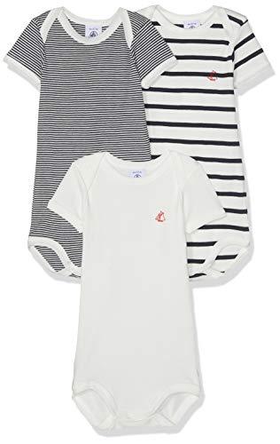 Petit Bateau Brity, Body para Unisex bebé, Multicolor (Multicolor 00), 80 (Tamaño del Fabricante:18M)