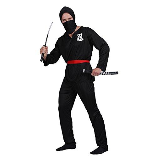 EraSpooky Disfraz de Ninja para Hombre Cosplay Disfraz de Fiesta de Halloween para Adulto