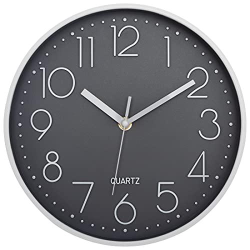 Foxtop Reloj de Pared Moderno, silencioso, sin tictac, Decorativo, Funciona con Pilas,...