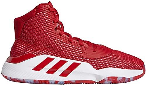 adidas Herren Pro Bounce 2019 Basketballschuhe, Rot (Scarlet/FTWR White/FTWR White), 44 2/3 EU