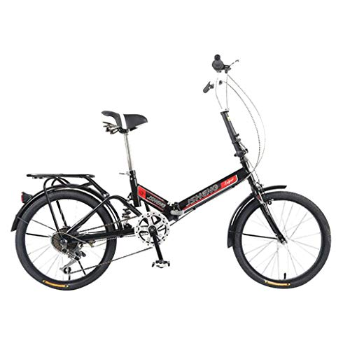 Purchase Folding Bike for Adults, 6 Speed Lightweight Mini Compact 20 Folding Bicycle, Suitable Urb...