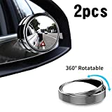 2Pcs Blind Spot Mirrors, 360° Rotatable Convex Wide-angle Car Wing Mirror