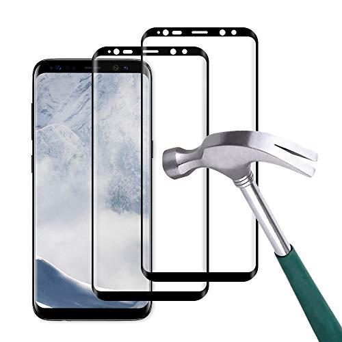 Carantee 2 Stück Panzerglas Schutzfolie für Samsung Galaxy S8, 9H Härte 3D Volle Abdeckung, Ultra dünn HD Displayschutzfolie, Anti-Kratzen Anti-Fingerabdruck Panzerglasfolie für Samsung S8