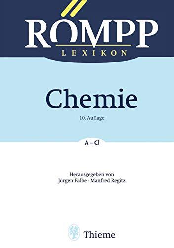 RÖMPP Lexikon Chemie, 10. Auflage, 1996-1999: Band 1: A - Cl